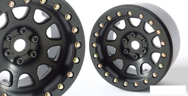 "SSD 2.2"" D Hole Beadlock Wheels BLACK SSD00156 CNC Aluminium Wheel 6 Lug"