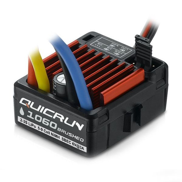 Hobbywing Quicrun 1060 Waterproof Brushed SBEC ESC (60A) HW30120201 3S LiPo