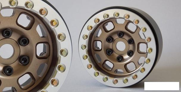 "SSD 1.9"" Contender Beadlock Wheels BRONZE SSD00233 Silver Beadlock WIDER GOLD"