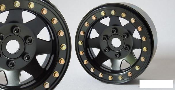 """SSD 1.9"""" Steel 8 Spoke Beadlock Wheels BLACK SSD00254 TRX-4 wheel TRX4 Traxxas"""