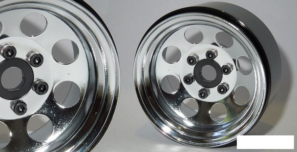 "SSD 1.9"" Steel 8 Hole Beadlock Wheels CHROME SSD00270 Axial SCX10 II TRX-4 TRX4"