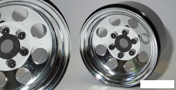 "SSD 1.9"" Steel 8 Hole Beadlock Wheels CHROME SSD00270 Axial SCX10 II TRX-4 TRX4"