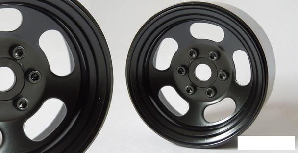 """SSD 1.9"""" Steel Slot Beadlock Wheels BLACK SSD00274 Traxxas TRX-4 TRX4 SCX10 II"""