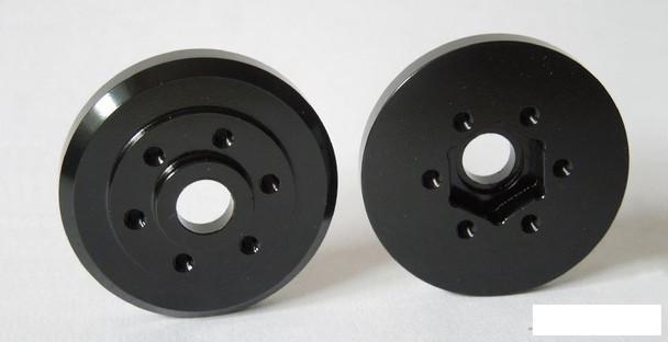 SSD Brass Wheel Hubs BLACK SSD00279 Weights 44g Faux Drum Brake SLW Hub Style