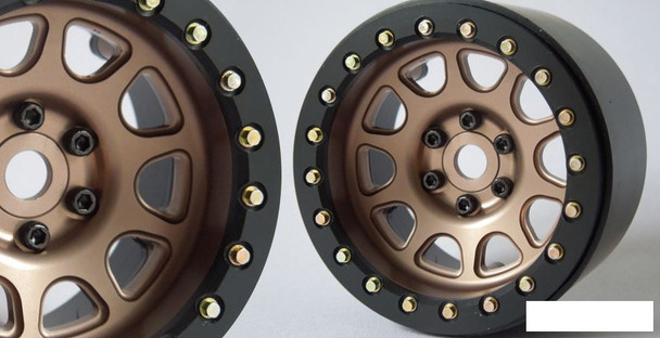 "SSD 2.2"" D Hole Beadlock Wheels BRONZE GOLD SSD00308 12mm Hex 6 bolts only"
