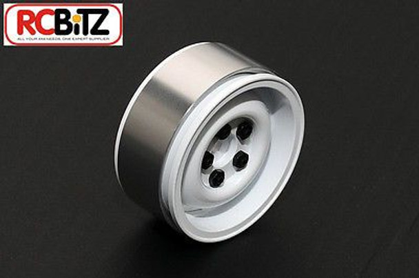 1.9 Landies Alloy Beadlock Wheels WHITE Landy Land Rover 5 lug RC4WD Z-W0075