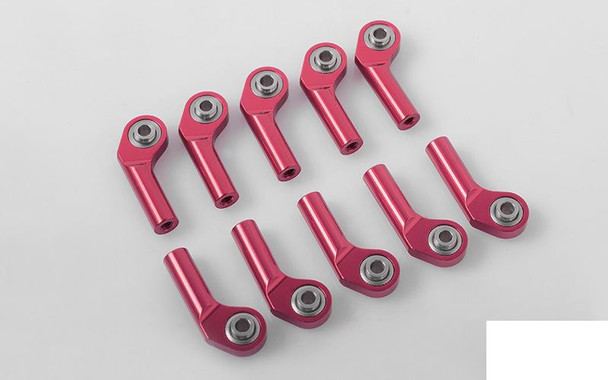 M3 Extended Offset Long Aluminum Rod Ends RED (10) Z-S1697 RC4WD 20mm RC