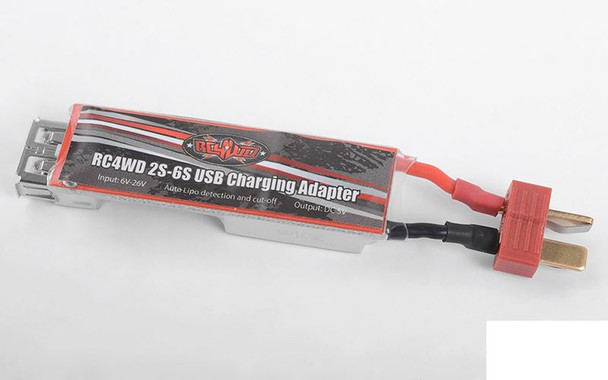"RC4WD 2S 6S USB Charging Adapter ""T"" Deans Style Plug Z-E0109 LiPo charger phone"