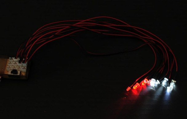 Super Bright Scale Light System 10 LED's RC4WD Great for Scaler Z-E0019 RX Plug