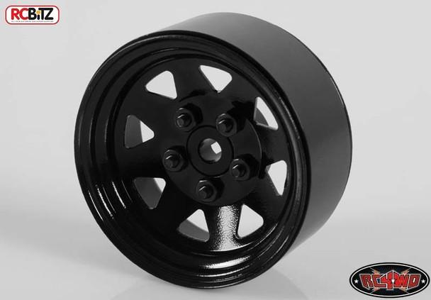 5 Lug Wagon 1.9 scale Steel Stamped Beadlock Wheel 1 BLACK Pin RC4WD Z-Q0023