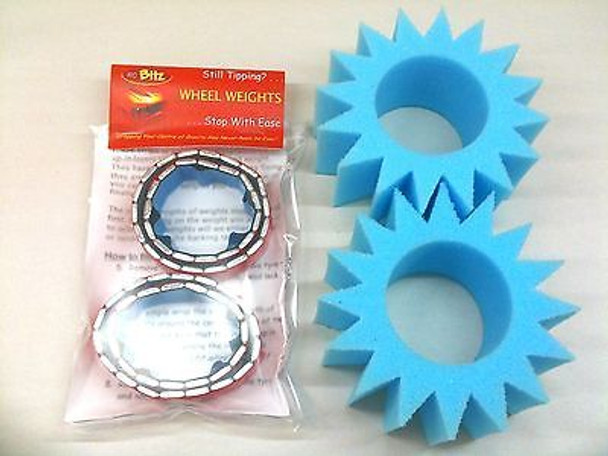 Wheel Weights & Star Cut Foam SET for 2.2 Wheels CR-01 MUST have IMPROVEMENT