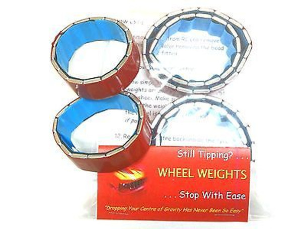 WRAITH Rock Racer Crawler Wheel Weights 2.2 tyres SET Lower Center of Gravity