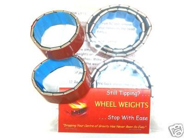 RC Scale & Rock Crawler Wheel Weights 1.55 tyres COMPLETE SET 140g 5oz & 65g 2oz