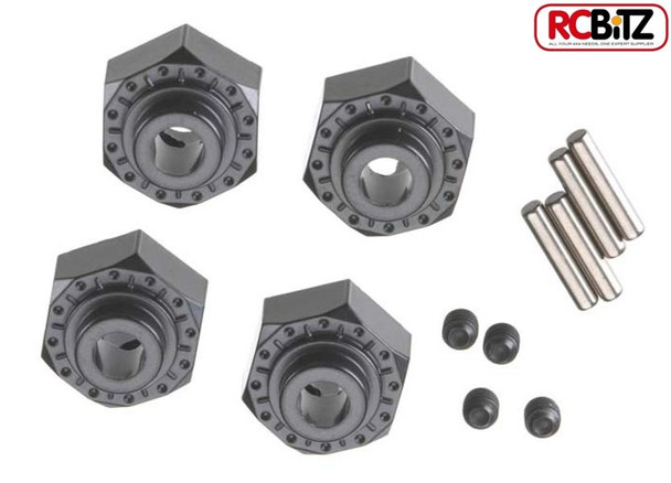 Axial 12mm Aluminum Hub Hex Wraith AX10 Wheel Mounting Adaptor BLACK 4pc AX30429