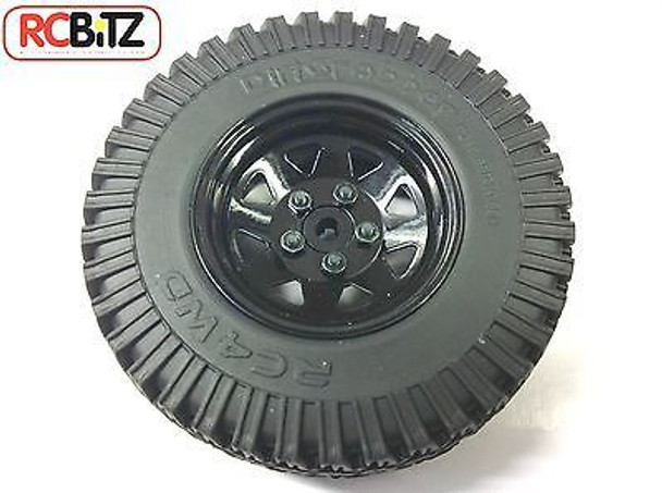 D90 Gelande 2 II G2 Spare Wheel & Tyre Tire Black 5 lug Waggon Wheel Dirt Graber