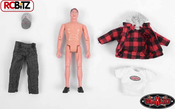 "RC4WD Scale 6"" 150mm Action Figure & cloths Articulates MIKE Brown Z-S1386 Drive"