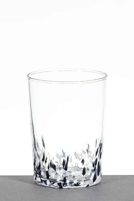 Small Tumbler - Black and White Star
