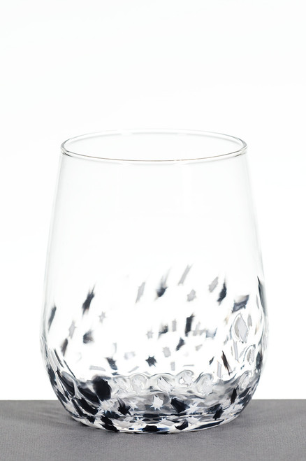 Large Wine - Black and White Star
