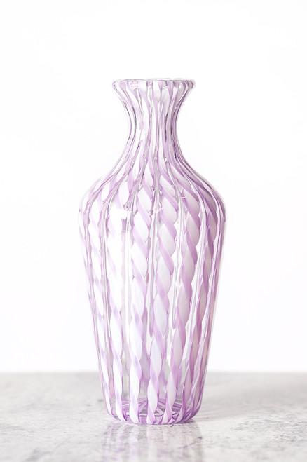 Cane Vase - Lilac & White
