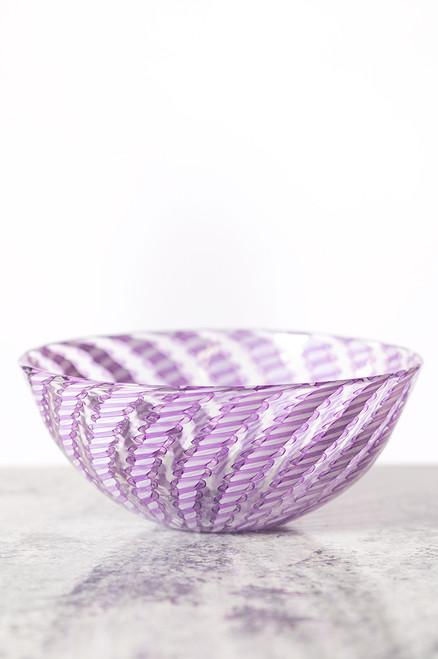 Cane Bowl - Lilac & White