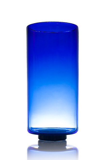 Cylinder with Foot - Cobalt Blue
