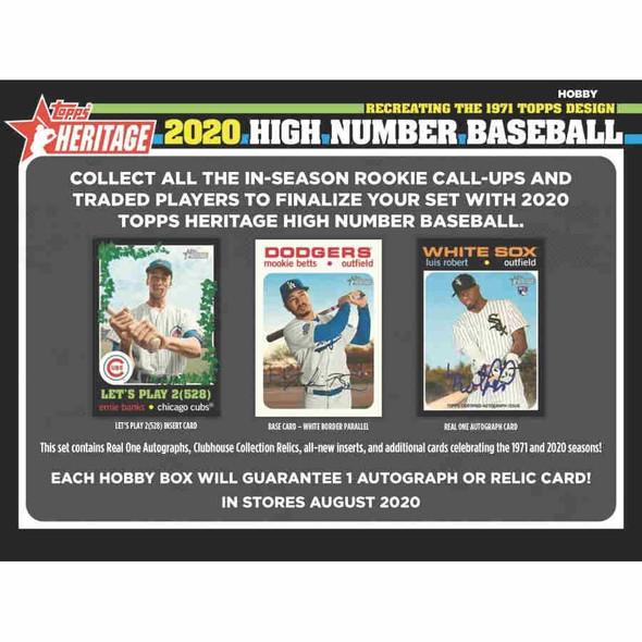 2020 Topps Heritage Baseball High Number Hobby Box