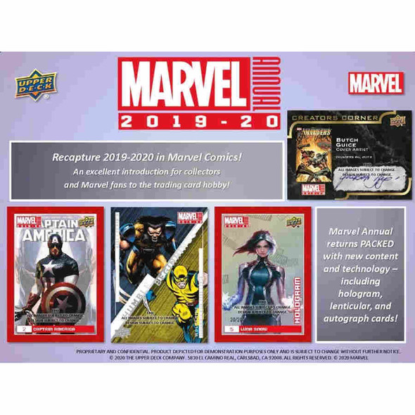 2019-20 Upper Deck Marvel Annual Hobby Box