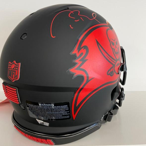 Tom Brady Autographed Custom Buccaneers Full Size Rep Helmet with Fanatics COA