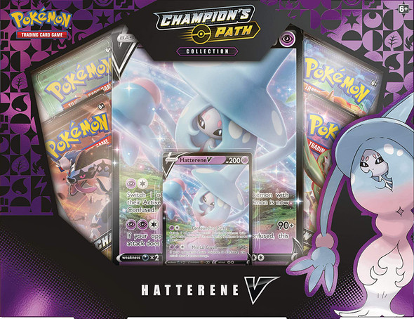 Pokemon Champion's Path Hatterene Collection 6 Box Sealed Case