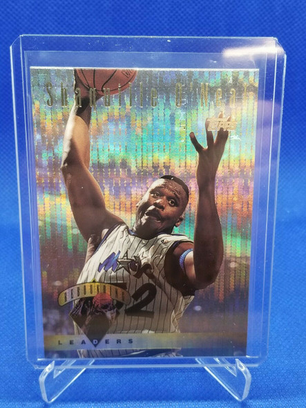 1995-96 Topps Rebounding Leader Shaquille O'Neal Power Boosters #13