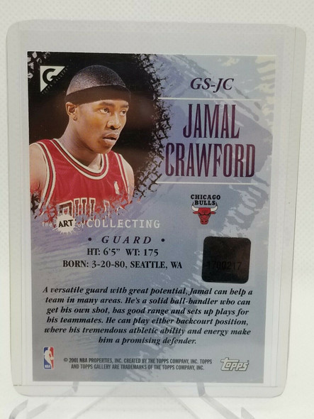2000-01 Topps Gallery The Art Collection Jamal Crawford Auto Autograph