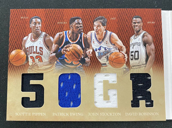 2012-13 Panini Preferred 50 Greats Patch Booklet Pippen Thomas Ewing More /149