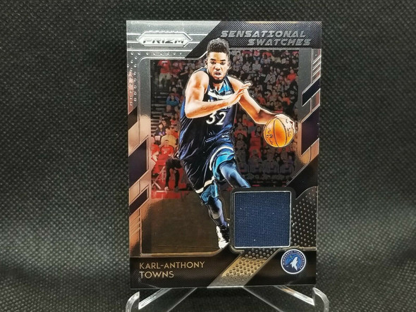2018-19 Prizm Karl Anthony Towns Jersey Sensational Swatches