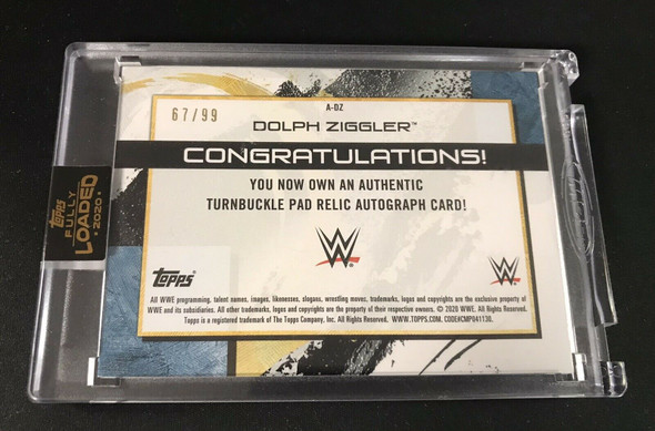 2020 Topps WWE Fully Loaded Dolph Ziggler Autograph Turnbuckle Relic /99