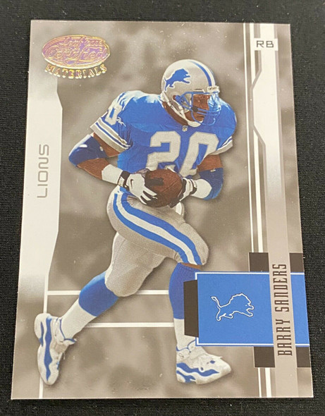 Barry Sanders 2003 Leaf Certified Materials Lot of 6 Lions