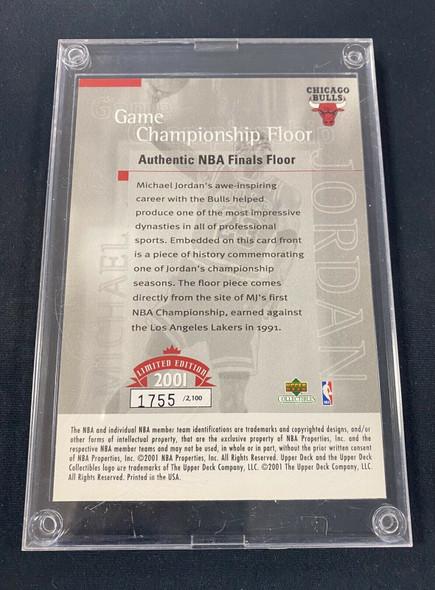Michael Jordan 2001 Game Championship Floor /2100 Authentic NBA Finals Floor