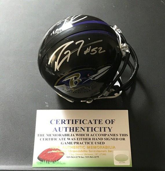 Ray Lewis Jamal Lewis Baltimore Ravens Certified Autograph Mini Helmet