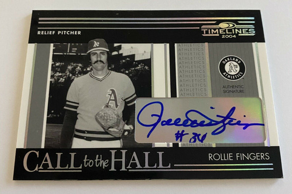 Rollie Fingers 2004 Donruss Timelines Call To The Hall Auto /100 This is Rare