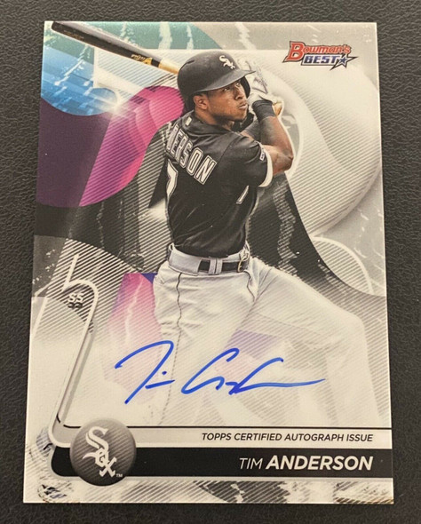 Tim Anderson 2020 Topps Bowman's Best Auto White Sox