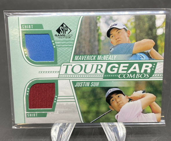 Maverick McNEALY/Justin Suh 2021 Upper Deck SP Game Used Golf Tour Gear Combo