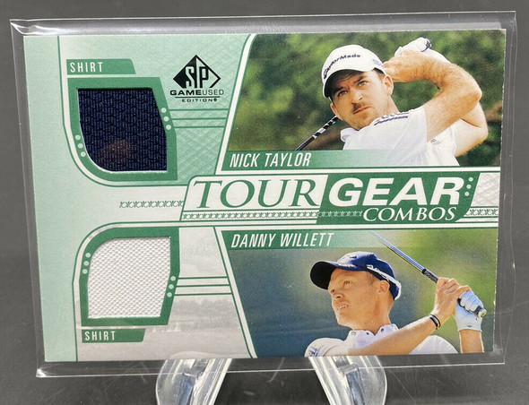 Nick Taylor & Danny Willett 2021 Upper Deck SP Game Used Golf Tour Gear Combo
