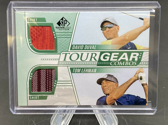 David Duval and Tom Lehman 2021 Upper Deck SP Game Used Golf Tour Gear Combo