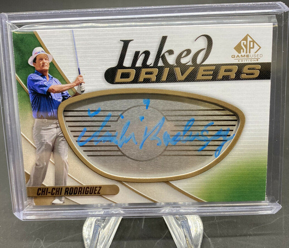 CHI-CHI Rodriguz 2021 Upper Deck SP Game Used Golf Inked Drivers Autograph