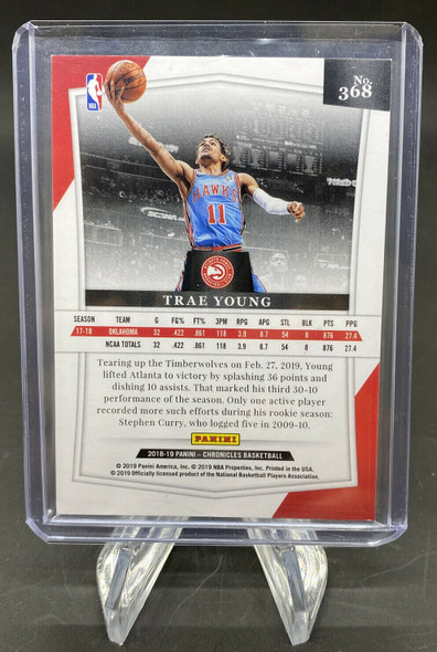 Trae Young 2018-19 Panini Chronicles Majestic Rookie Red /149