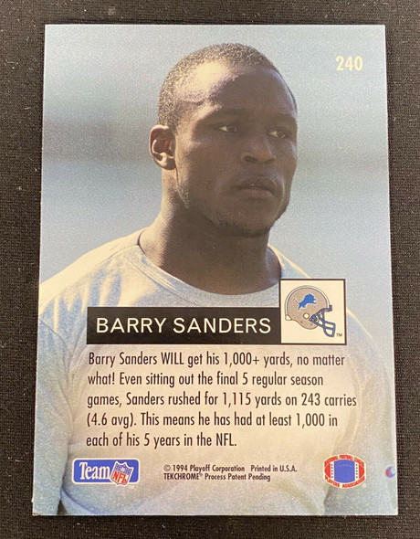 Barry Sanders 1994 Playoff Ground Attack Detroit Lions