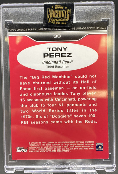 Tony Perez 2021 Topps Archives Signature Series /46 REDS
