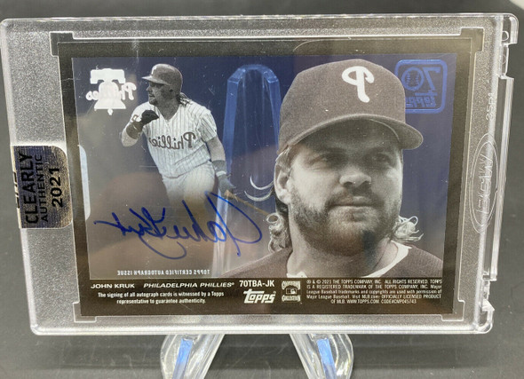 2021 Topps Clearly Authentic John Kruk Autograph