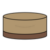 Savanna round dining table cover shape