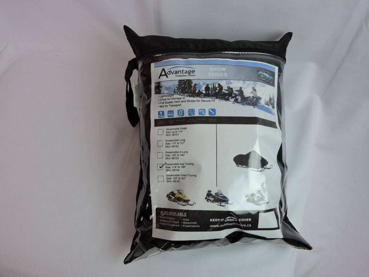 Advantage snowmobile cover storage bag all packed
