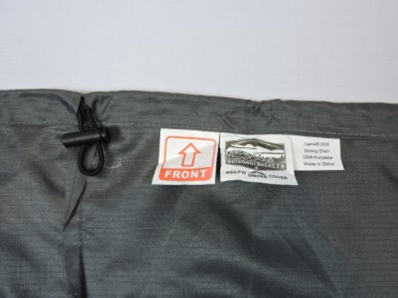 Avalon shock cord hem with adjustable lock for snug fit